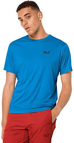 Jack Wolfskin Tech T-Shirt Homme T-Shirt Homme Brilliant Blue FR : XL (Taille Fabricant : XL)