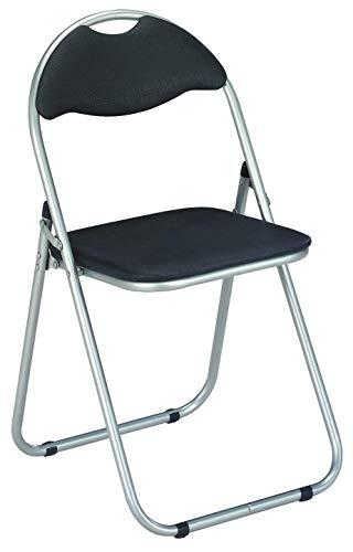 Haku Möbel Klappstühle, 6 Stück, aluminium, alu-schwarz, 44x47x80