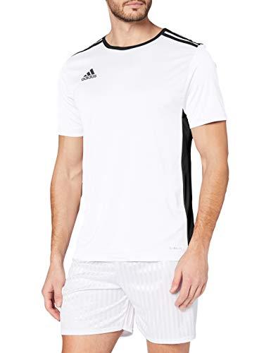 adidas Entrada18 Maglietta, Uomo, Bianco/Nero, M