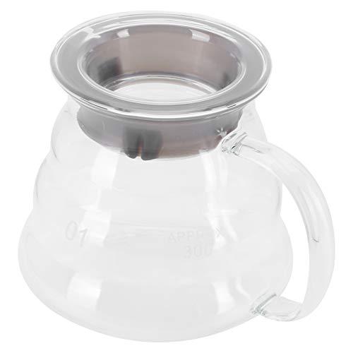 Pot de serveur de café, serveur de café en verre pot de café en verre professionnel de carafe de café pour le comptoir de cuisine de bar(02)