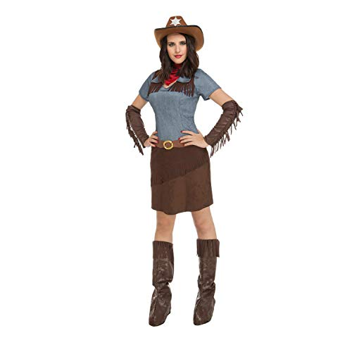 My Other Me Me-204367 Disfraz de cowgirl para mujer, M-L (Viving Costumes 204367)