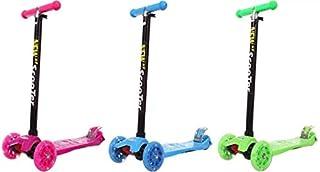 سكوتر للأطفال بثلاث عجلات للأطفال من البنات والأولاد - ارتفاع قابل للتعديل 3 درجات، عجلات سكوتر للأطفال من 3 إلى 12 سنة