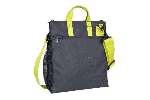 LÄSSIG Baby Kinderbuggytasche Buggy Tasche Kinderwagentasche Aufbewahrungstasche Reißverschluß Kinderwagen inkl. Kinderwagenbefestigung/Casual Buggy Bag Star, ebony