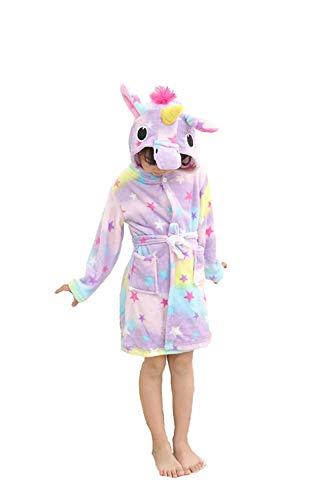 Eastery Comfy Unicorn Badjas voor kinderen, uniseks, met capuchon, eenvoudige stijl