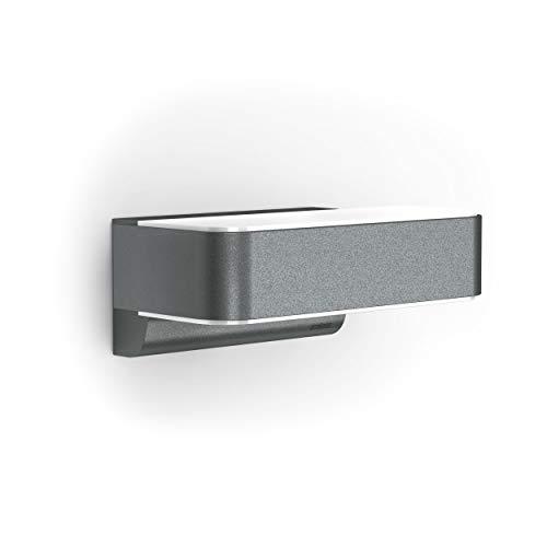 Steinel Außenleuchte L 810 LED iHF Connect Anthrazit, LED Wandleuchte, 160° Bewegungsmelder, 12,5 W, vernetzbar, per App bedienbar, Aluminium [Energieklasse A++]
