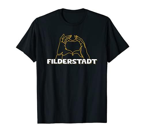 Filderstadt Urlaub Reisen Souvenir Herz T-Shirt