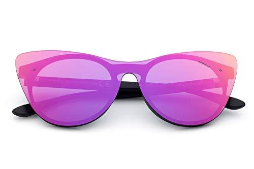 Saraghina, Eyewear, Space, Space3, SpacE3-02SPV, negro. Lente morada. Gafas de sol para hombre y mujer. Unisex. Nailon. Ultraligero.