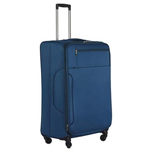 Monaco Teal Lightweight 4 Wheel Expander Suitcase Trolley Luggage - Medium