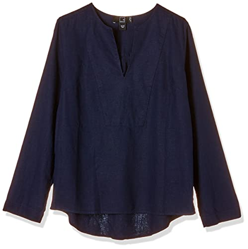 MERAKI Top Estilo Túnica Mujer, azul (marino), 46, Label: XXL