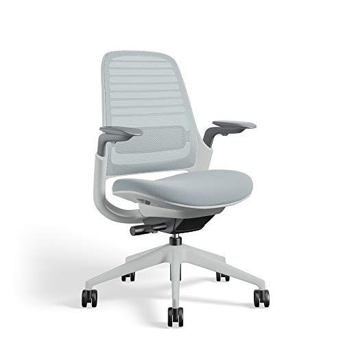 Series 1 Task Chair by Steelcase   Seagull Frame, Congent Connect Upholstery, 3D Microknit Back   Fully Adjustable Arms   Carpet Casters (Nickel)