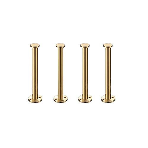 Auart Messing Möbelbein mit Befestigungsschraube Gold-Sofa Beinen, Heavy Duty Schrank Schrank Tisch Stuhl Tisch Metallfuß, DIY Tischbeine Set von 4 (Size : 160mm)