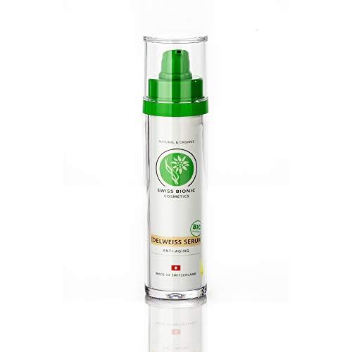 SWISS BIONIC Edelweiß Anti-Aging Serum 50ml - BIO-zertifizierte Naturkosmetik mit Edelweiss, Aloe Vera & Hyaluron für intensive Feuchtigkeit