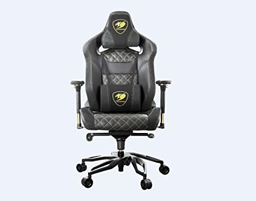 COUGAR Armor Titan Pro Royal The Flagship Gaming Chair Breathable PVC Leather, a Premium Suede-Like Texture, 160kg Support, 170 Degree Reclining, Black