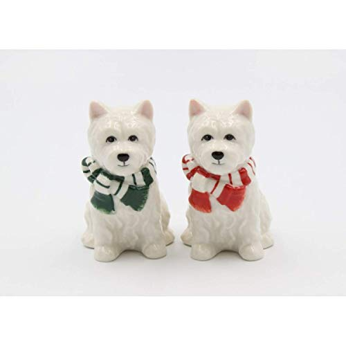 Cosmos Gifts 56579 Christmas West Terrier Salt and Pepper, White