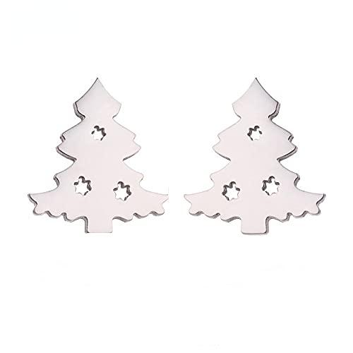 Bonitos pendientes de Navidad con campanas de árbol, accesorios de dibujos animados, ciervo, regalos de Navidad para mujeres y niños
