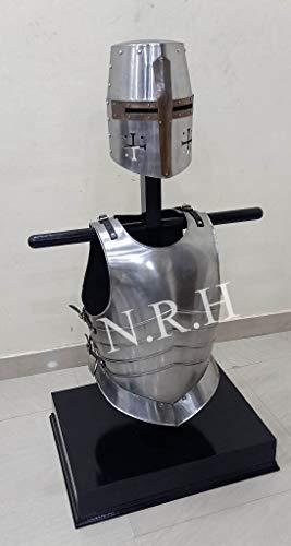 Nautische Replik Hub-Mittelritterhelm mit Brustplatte, Muskeljacke
