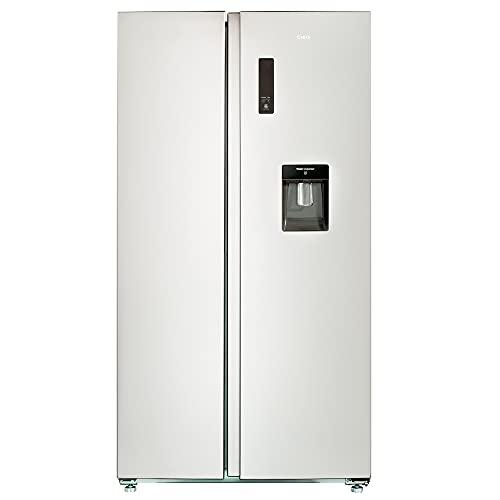 CHIQ FSS559NEI32D Side By Side Kühlschrank mit Inverter und No Frost Technologie 559L | Side-by-Side Kühl- Gefrierkombination mit Wassertank | Wasserspender | Sehr leise 39 db | LED Display