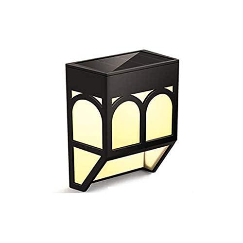 DFBGL 6 Paquetes de lámpara de Pared Retro, Luces solares Impermeables, Luces LED inalámbricas para Exteriores con energía Solar, iluminación Decorativa para Valla, Patio, Patio, Porche,