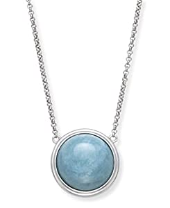 Sterling Silver Natural Aquamarine Necklace for Women