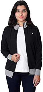 CARBON BASICS All Weather Thin Cotton Summer Jacket with High Neck Collar & Zipper for Womens & Girls