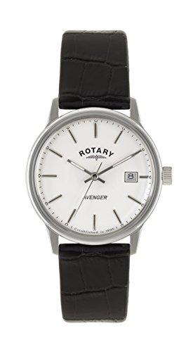 Rotary GS02874/06 - Reloj de pulsera hombre, piel, color negro
