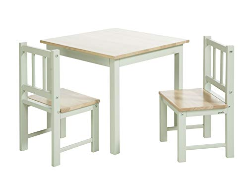 Geuther 2413SET GRNA Sitzgruppe für Kinder Activity, 2413, Tischchen und Zwei Stühlen, grau, 10.7 kg