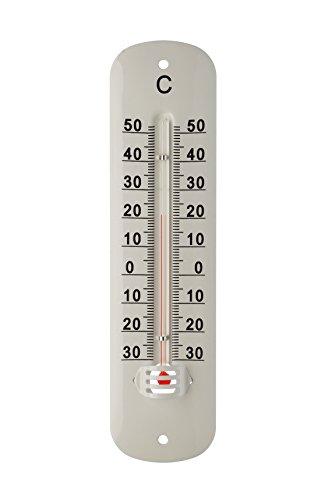 INOVALLEY A420 Thermomètre Métal Verni Blanc 20 cm