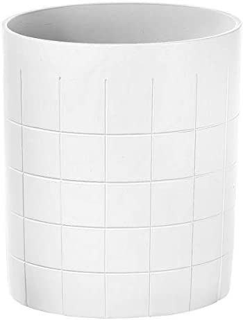Creative Scents White Decorative Bathroom Trash Can Powder Room Wastebasket Bin for Diaper Paper product image
