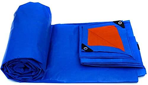SACKDERTY Plane Wasserdicht Außen Doppelseitig Wasserdicht Sonnenschutz Verdicken Faltbares Öltuch Mit Metallloch Augenplastik, 9 Größen2 Farben (Farbe: ROT, Größe:...