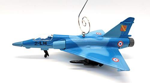 Dassault Mirage 2000C Jetflugzeug, Weihnachtsdekoration, Blau