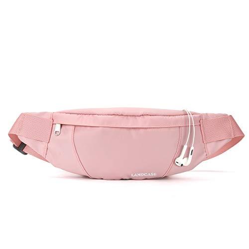 Small Fanny Pack Plus Size Waist, Waist Bag Fanny Packs for Women Men Waterproof with Headphone Jack, Lightweight Belt Bag for Travel Sports Running Hiking Walking,Pink