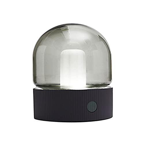 XIAN-jing Luz de Noche, lámpara de mesita de Noche Recargable con Control táctil LED, batería Recargable de 1200 mAh, 2 de Temperatura de Color, Modos para Dormitorio Infantil, Oficina (Color : Gris)