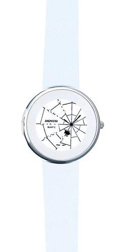 SHEPHERD 15205 Spinnenuhr silberfarben Damen Armbanduhr (kleine Version) 34 mm Durchmesser Quarz