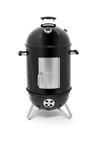 Barbecook Räucherofen Smoker für kalt und heiß räuchern mit Temperatur-Sonde und regulierbarer Luft-Zufuhr, schwarz, 39 x 39 x 99 cm