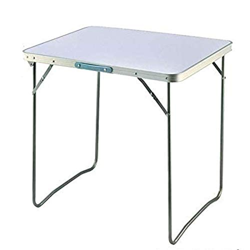 AWJ Folding Camping Table, Aluminum Rectangle Picnic Table for Indoor Outdoor Home Party, Camping & Hiking BBQ Picnic, Load Capacity 15KG