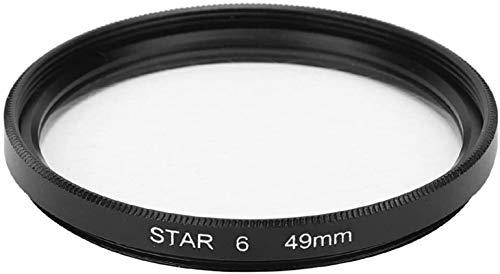 MWKLW Filtro de Estrella, Filtro de Estrella Junestar 49 mm Accesorio para Lente de cámara Canon 6 líneas Starlight Night Shot para cámaras SLR con un diámetro de 49 mm / 1,9 Pulgadas