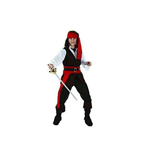 Disfraz de pirata hombre, marrón, M-L.