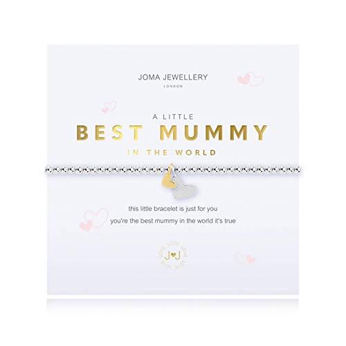 Joma Jewellery - Braccialetto con scritta 'A Little Best Mummy' in the World