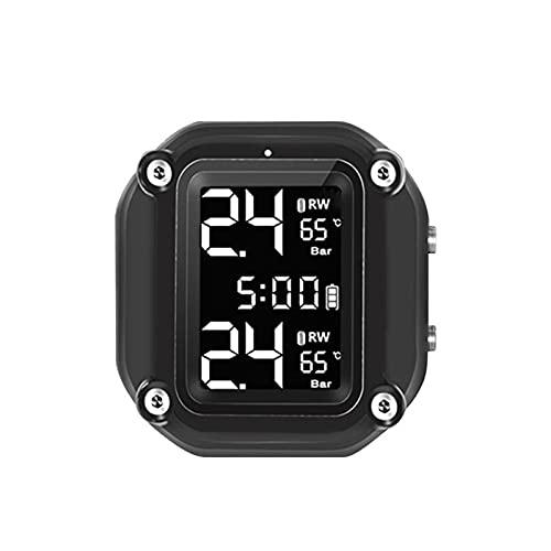LIULIANG MeiKeL Motocicleta TPMS Sensor Externo Bicicleta Eléctrica Tiempo Tiempo Tiempo Neumático Presión Temperatura Monitoreo Sistema De Alarma Inalámbrico (Type : Plan C)