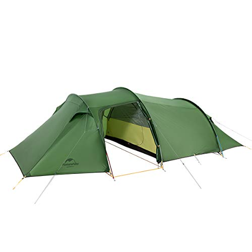 Naturehike Opalus Backpacking Tent 2-4 Person Lightweight Waterproof Camping Tent with Footprint (4 Person 40D Green)