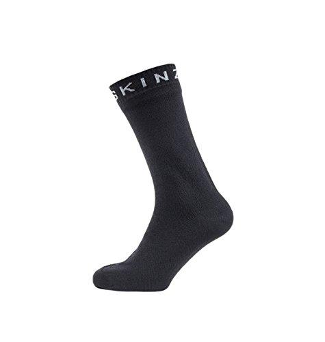 SealSkinz Herren Super Thin Mid Socken, schwarz/grau, M