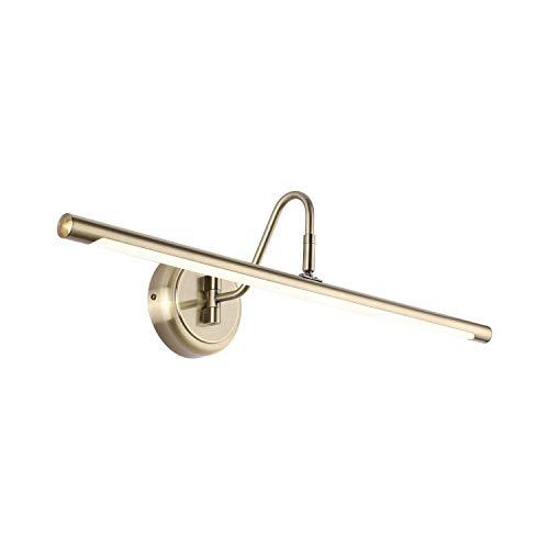 ECOBRT LED-Bilderleuchten 14W,antik messingfarbigem Finish, kurze Metallgrafiklampe, Natürliches Weiß, 4000K, festverdrahteter Schwenkarm (Antique Brass, 62CM)
