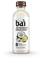Bai Coconut Flavored Water, Andes Coconut Lime, Antioxidant Infused Drinks, 18 Fluid Ounce Bottles,
