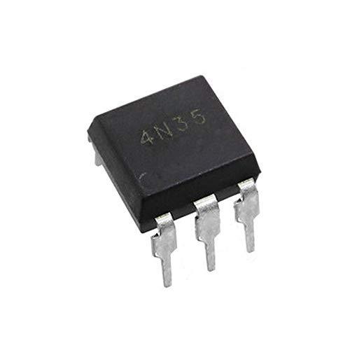 (30 Stück) 4n35 Optokoppler Transistor Optoisolator mit Basisausgang 3550Vrms 1-Kanal 6-DIP