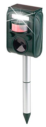 Exbuster Tiervertreiber: Ultraschall-Solar-Tierschreck mit Blitzlicht und Bewegungssensor (Blitzlicht mit Bewegungsmelder)