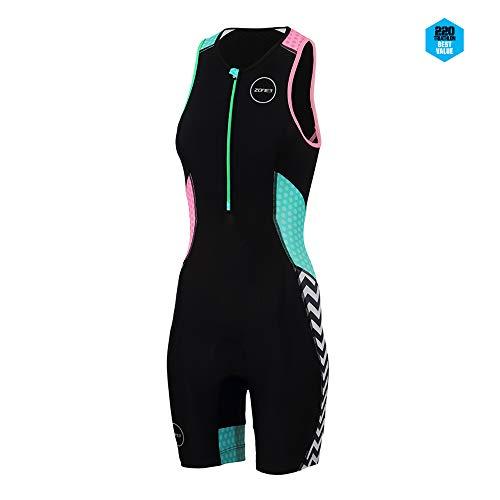 ZONE3 Activate Plus Trisuit Damen Zebra Größe XS 2019 Triathlon-Bekleidung