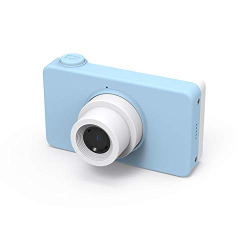 Multifunctional Children's Camera Mini SLR 800W Pixel Front And Rear Dual Cameras 2.2 Inch HD Screen Auto Focus 1080P Mobile Phone Transfer Photo Filter USB Charging The Best Gift for Kids,Blue
