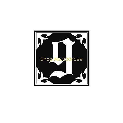 Njuxcnhg Arabische Kunst Wandaufkleber Nummer 9 Möbel Dekoration Wohnzimmer Schlafzimmer Selbstklebende wasserdichte Tapete Aufkleber 56X56 cm