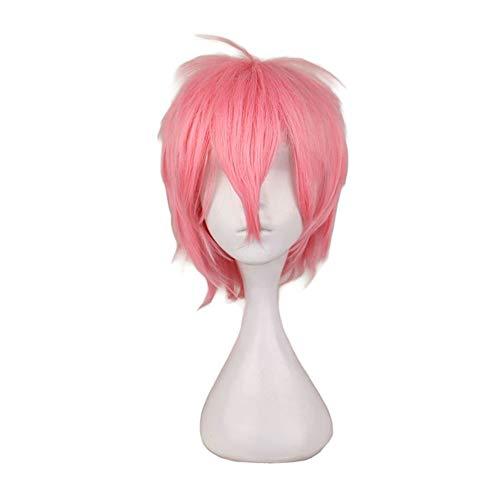ZHML Rosa Downy Anti-Alice Alambre De Alta Temperatura Anti-Alice Miope Peluca De Pelo (Color : Pink)