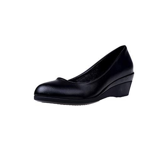 Zapatos de Vestir Tacón Medio Grueso para Mujer Invierno